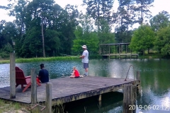 Fishing off the deck